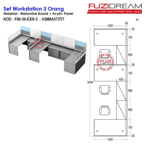 meja-partition-pejabat-workstation-table-moden-supplier-harga-price-murah