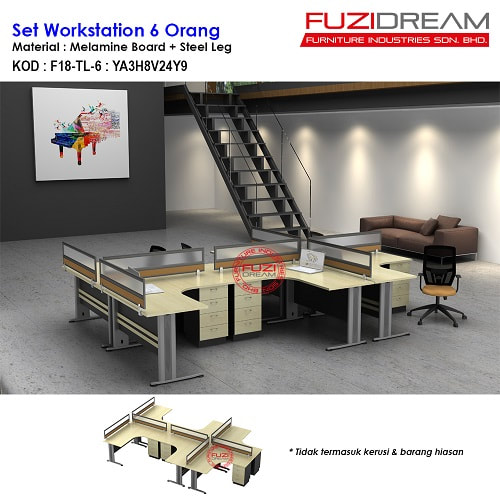 pembekal-workstation-pejabat-partition-pejabat-harga-supplier-office-partition-cubical-workstation-table-meja-moden