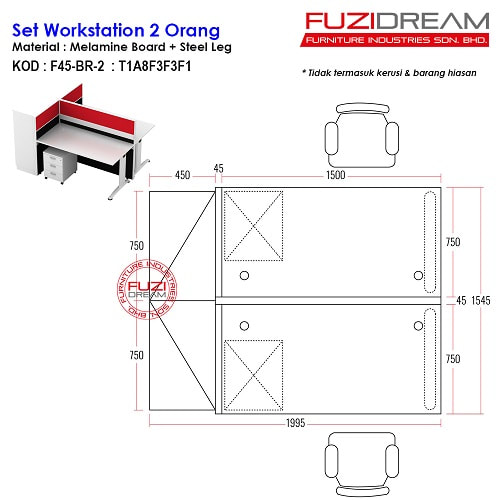 set-workstation-pejabat-partition-pejabat-offie-workstation-murah
